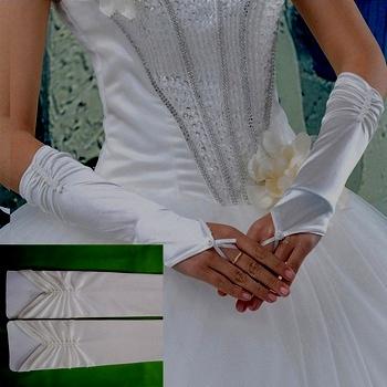 атласные перчатки белые без пальцев свадебные купить