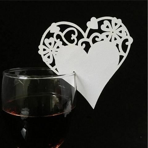 банкетная карточка на фужер сердце фото