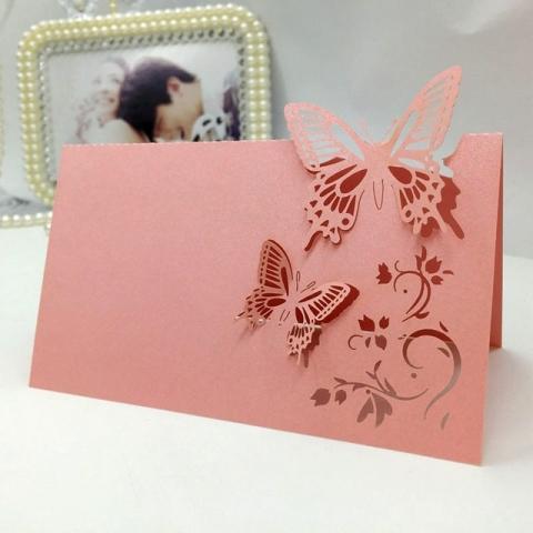 розовые банкетные карточки купить