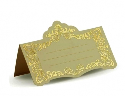 банкетная карточка золотистая
