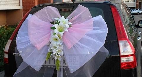 бант на багажник с лилиями купить