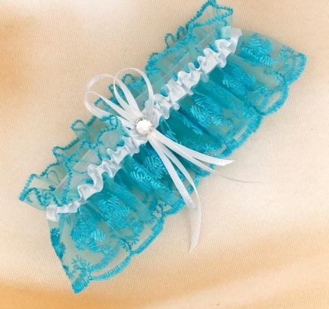 подвязка невесты бирюзовая фото