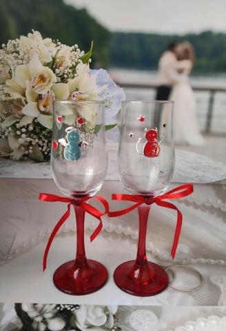 чертики свадебные бокалы