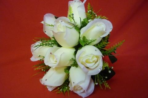 букет дублер белые розы купить