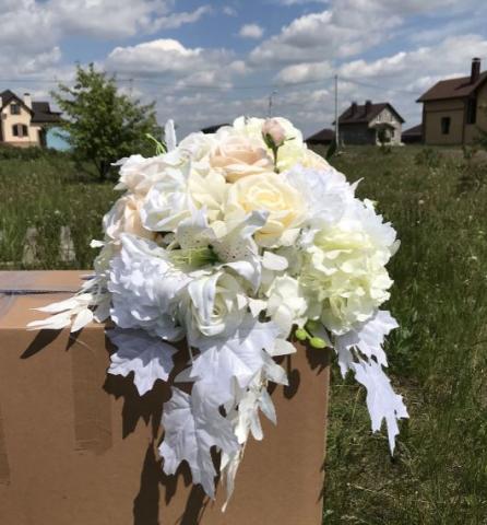 букет на свадебные столы молодоженов premium