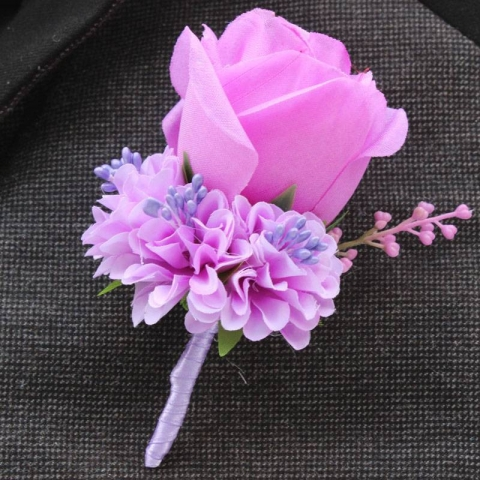 бутоньерка розовая для жениха фото