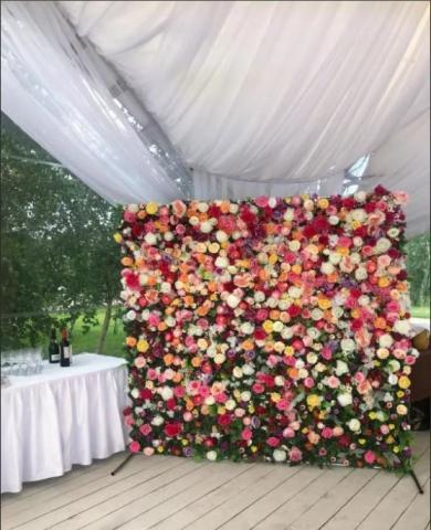 цветочная фотостена в аренду фото