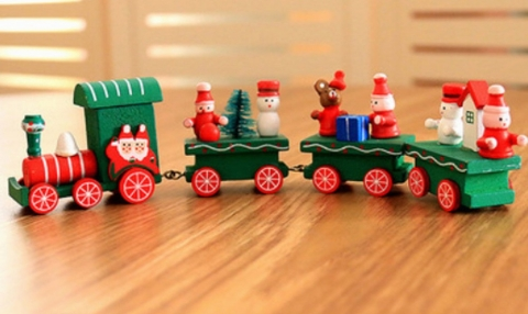 деревянные новогодние игрушки с человечками фото