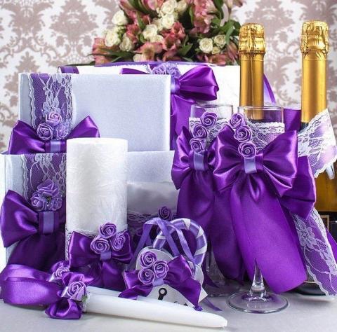 фиолетовая свадебная коллекция ручной работы