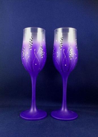 свадебные бокалы фиолетовые фото