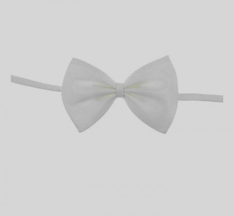 галстук бабочка белый купить