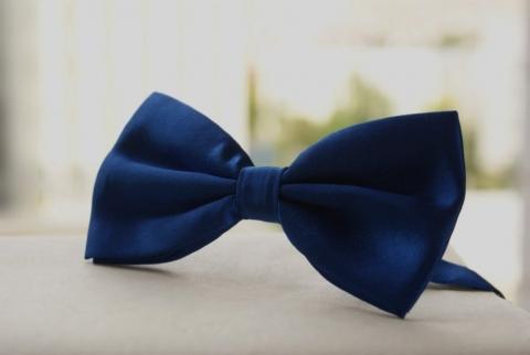 галстук бабочка синий купить