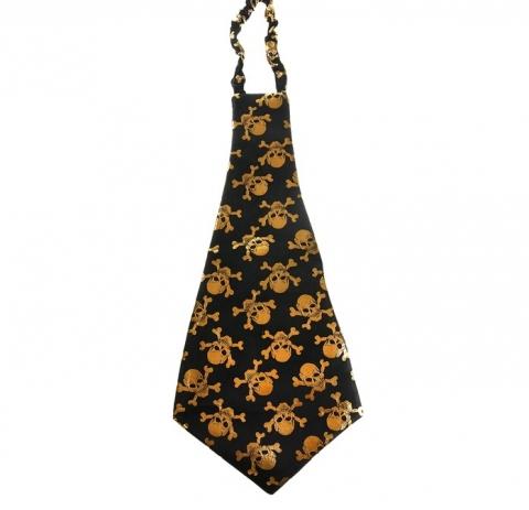 галстук гигант с черепами