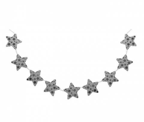 гирлянда звездочки серебряные фото