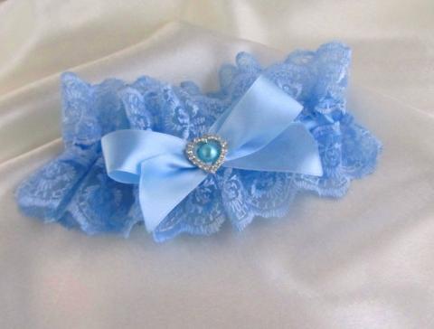 подвязка невесты голубая фото