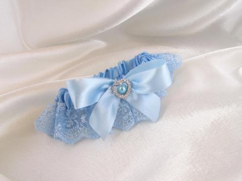 подвязка голубая фото