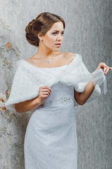 свадебная накидка белая