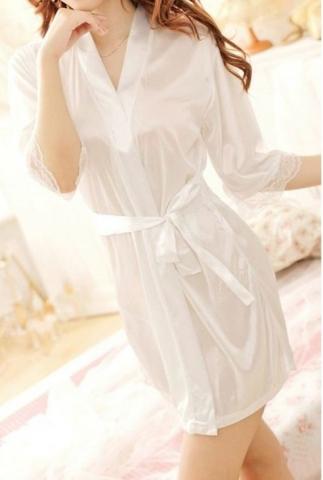 полупрозрачный свадебный халат фото