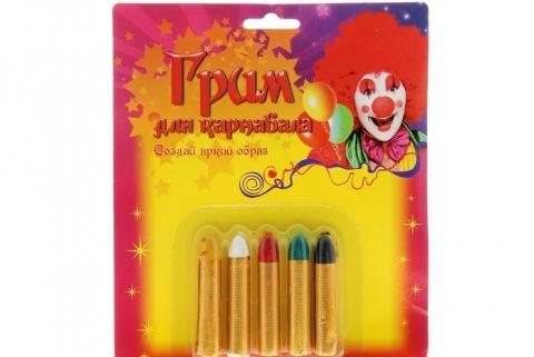 карнавальный грим, карандаши для грима, грим для лица