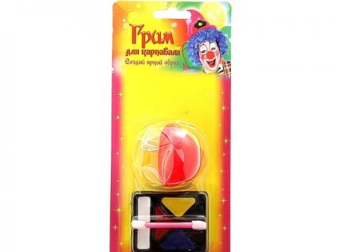 карнавальный грим, нос карнавальный, нос клоуна