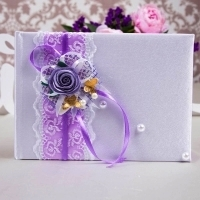 книга пожеланий сиренево-фиолетовая фото