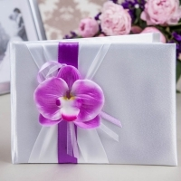книга пожеланий с фиолетовой орхидеей