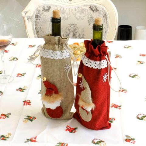 чехлы на новогодние бутылки фото