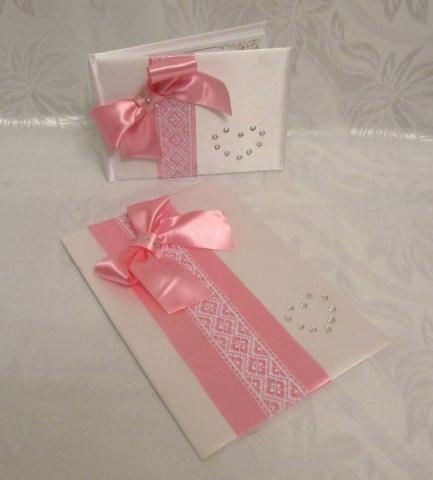 книги и папки розовые свадебные фото