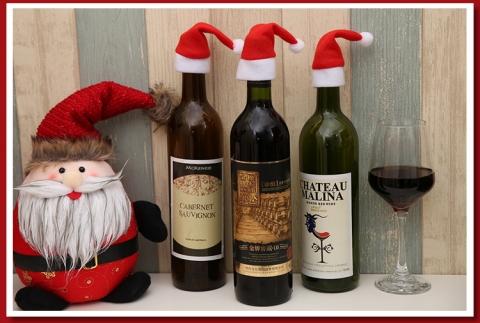 украшение на бутылки купить на новый год фото