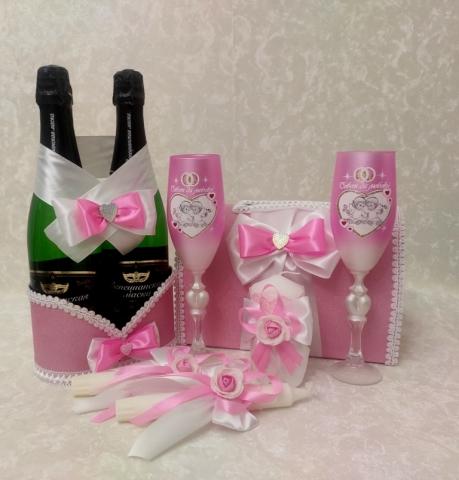 розовый комплект на свадьбу недорого