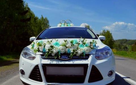 тиффани на машину цветы