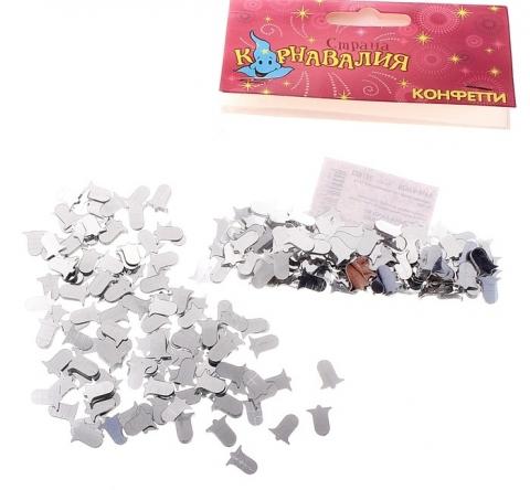 конфетти серебристое