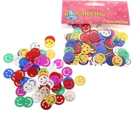конфетти смайлики