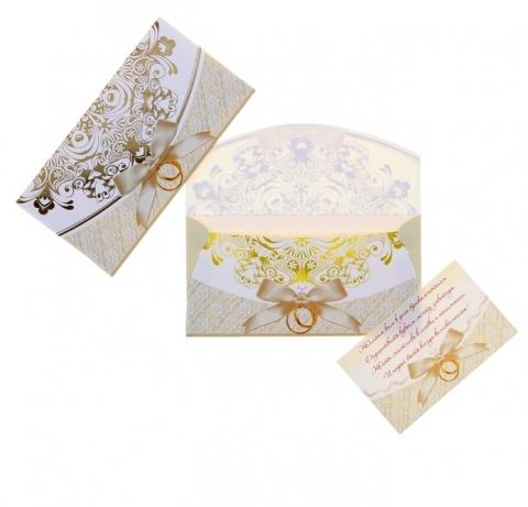 конверт на свадьбу для денег фото с бантиком