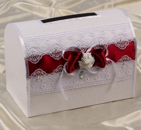 бордовая коробка для свадьбы фото