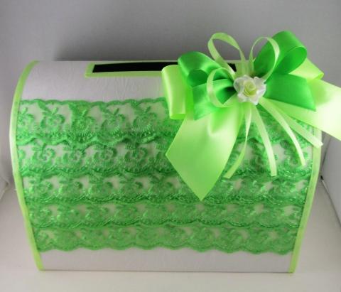 коробка для денег на свадьбу салатовая купить