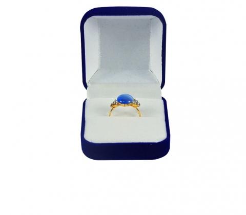 коробочка для колец синяя бархат картинка