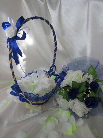 синяя свадебная корзинка фото