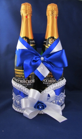 синие свадебне аксессуары фото