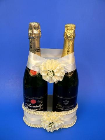 украшение на шампанское на свадьбу айвори купить