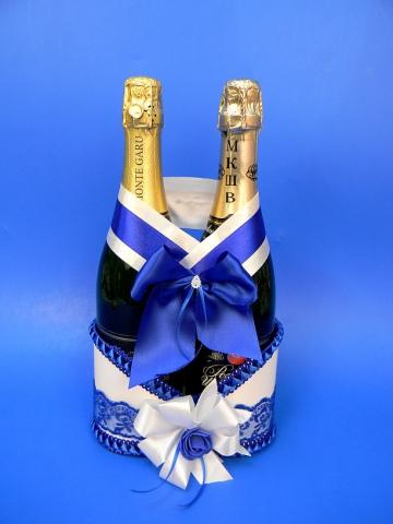 синяя корзинка для шампанского купить