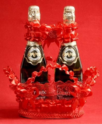 красный декор на шампанское купить
