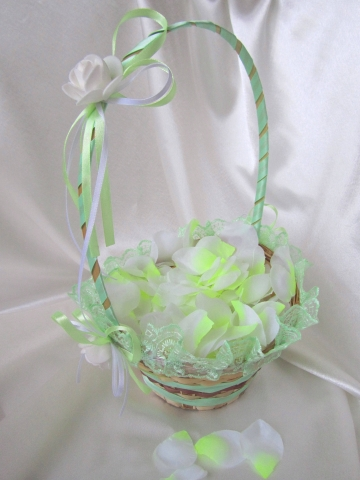 корзиночка для лепестков роз мятная купить