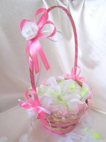 корзиночка свадебная розовая картинка
