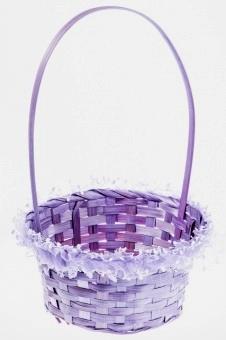 сиреневая корзиночка для лепестков роз фото