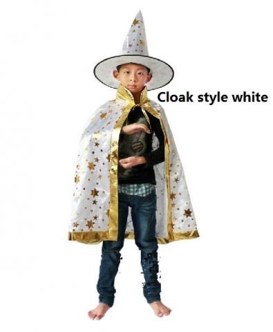 костюм волшбеника белый с золотистыми звездами