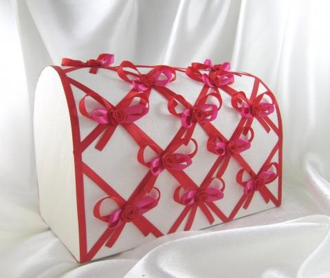 свадебный красный сундучок фото