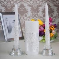 свечи белые кружевные