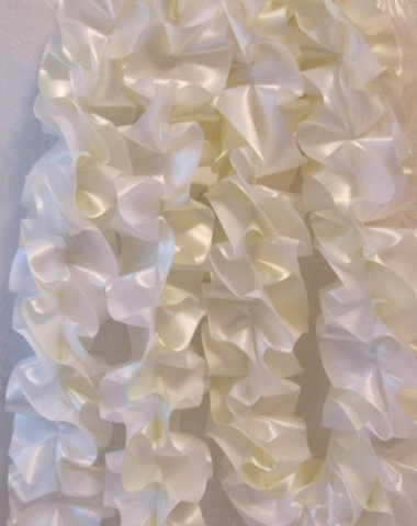 лента на малину айвори белый