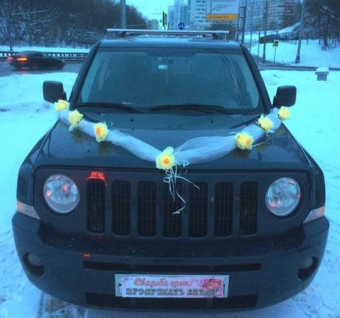 лента на машину с желтыми розами фото